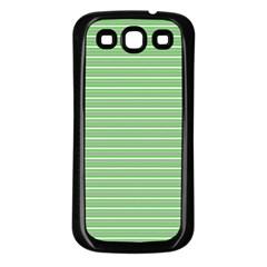 Decorative Lines Pattern Samsung Galaxy S3 Back Case (black) by Valentinaart
