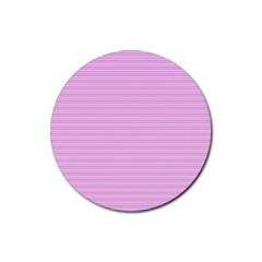 Decorative Lines Pattern Rubber Round Coaster (4 Pack)  by Valentinaart