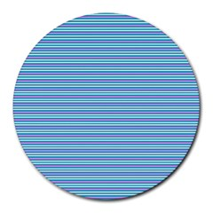 Decorative Lines Pattern Round Mousepads by Valentinaart