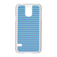 Decorative Lines Pattern Samsung Galaxy S5 Case (white) by Valentinaart
