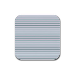 Decorative Line Pattern Rubber Coaster (square)  by Valentinaart