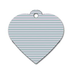 Decorative Line Pattern Dog Tag Heart (one Side) by Valentinaart