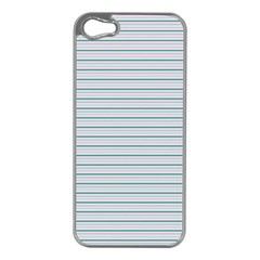 Decorative Line Pattern Apple Iphone 5 Case (silver) by Valentinaart