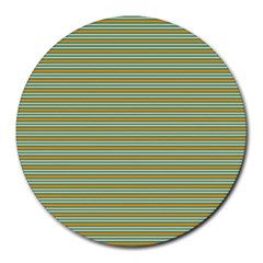 Decorative Line Pattern Round Mousepads by Valentinaart