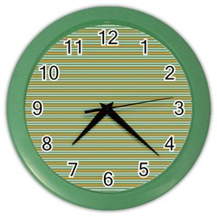 Decorative Line Pattern Color Wall Clocks by Valentinaart