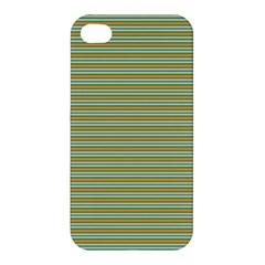Decorative Line Pattern Apple Iphone 4/4s Premium Hardshell Case by Valentinaart