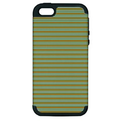 Decorative Line Pattern Apple Iphone 5 Hardshell Case (pc+silicone) by Valentinaart