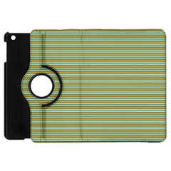 Decorative Line Pattern Apple Ipad Mini Flip 360 Case by Valentinaart