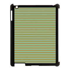 Decorative Line Pattern Apple Ipad 3/4 Case (black) by Valentinaart