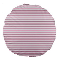 Decorative Line Pattern Large 18  Premium Flano Round Cushions by Valentinaart