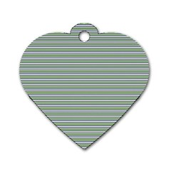Decorative Line Pattern Dog Tag Heart (two Sides) by Valentinaart