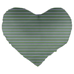 Decorative Line Pattern Large 19  Premium Heart Shape Cushions by Valentinaart