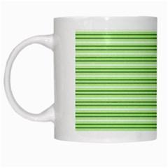 Decorative Line Pattern White Mugs by Valentinaart