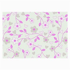 Floral Pattern Large Glasses Cloth (2 Side) by Valentinaart