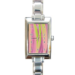 Artistic Pattern Rectangle Italian Charm Watch by Valentinaart