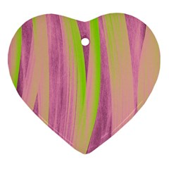 Artistic Pattern Heart Ornament (two Sides) by Valentinaart