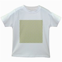 Artistic Pattern Kids White T Shirts by Valentinaart