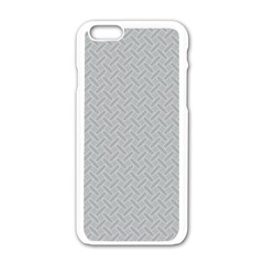 Artistic Pattern Apple Iphone 6/6s White Enamel Case by Valentinaart