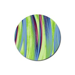 Artistic Pattern Rubber Round Coaster (4 Pack)  by Valentinaart