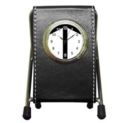 Grapevine Cross Pen Holder Desk Clocks by abbeyz71