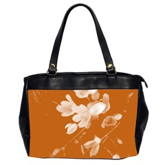 Autumn Crocus Orange Office Handbags (2 Sides)  by DeneWestUK