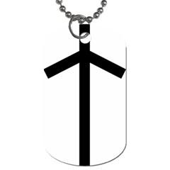 Grapevine Cross Dog Tag (one Side) by abbeyz71