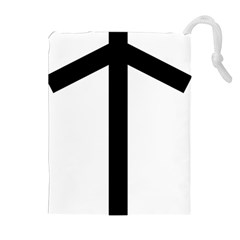 Grapevine Cross Drawstring Pouches (extra Large) by abbeyz71