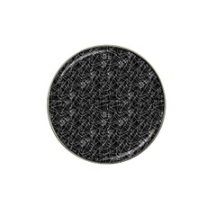 Linear Abstract Black And White Hat Clip Ball Marker by dflcprints