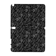 Linear Abstract Black And White Galaxy Note 1 by dflcprints
