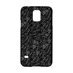 Linear Abstract Black And White Samsung Galaxy S5 Hardshell Case  by dflcprints