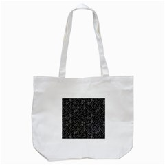 Linear Abstract Black And White Tote Bag (white) by dflcprints