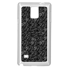 Linear Abstract Black And White Samsung Galaxy Note 4 Case (white) by dflcprints
