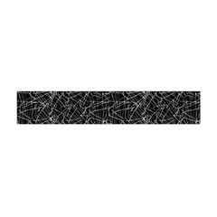 Linear Abstract Black And White Flano Scarf (mini) by dflcprintsclothing