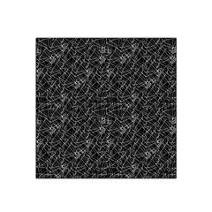 Linear Abstract Black And White Satin Bandana Scarf by dflcprintsclothing