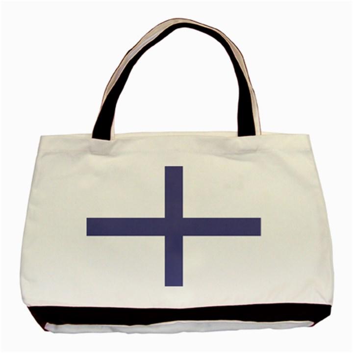 Greek Cross  Basic Tote Bag (Two Sides)