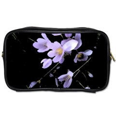 Autumn Crocus Toiletries Bags 2 Side by DeneWestUK