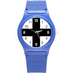 Greek Cross Round Plastic Sport Watch (s) by abbeyz71
