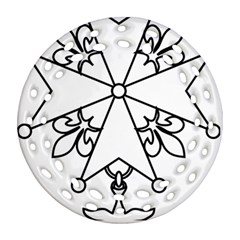 Huguenot Cross Round Filigree Ornament (two Sides) by abbeyz71