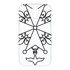 Huguenot Cross Samsung Galaxy S4 I9500/i9505 Hardshell Case by abbeyz71