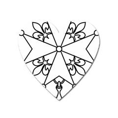 Huguenot Cross Heart Magnet by abbeyz71