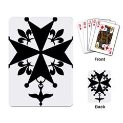 Huguenot Cross Playing Card by abbeyz71
