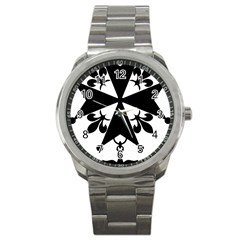 Huguenot Cross Sport Metal Watch by abbeyz71