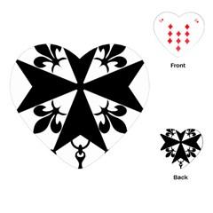 Huguenot Cross Playing Cards (heart)  by abbeyz71