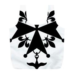 Huguenot Cross Full Print Recycle Bags (l)  by abbeyz71