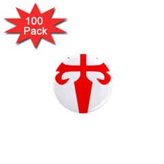 Cross Of Saint James  1  Mini Magnets (100 Pack)  by abbeyz71