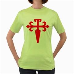 Cross Of Saint James Women s Green T Shirt by abbeyz71