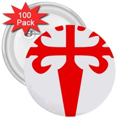 Cross Of Saint James 3  Buttons (100 Pack)  by abbeyz71