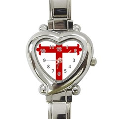 Cross Of Saint James Heart Italian Charm Watch by abbeyz71