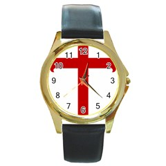 Cross Of Saint James Round Gold Metal Watch by abbeyz71