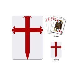 Cross Of Saint James Playing Cards (mini)  by abbeyz71